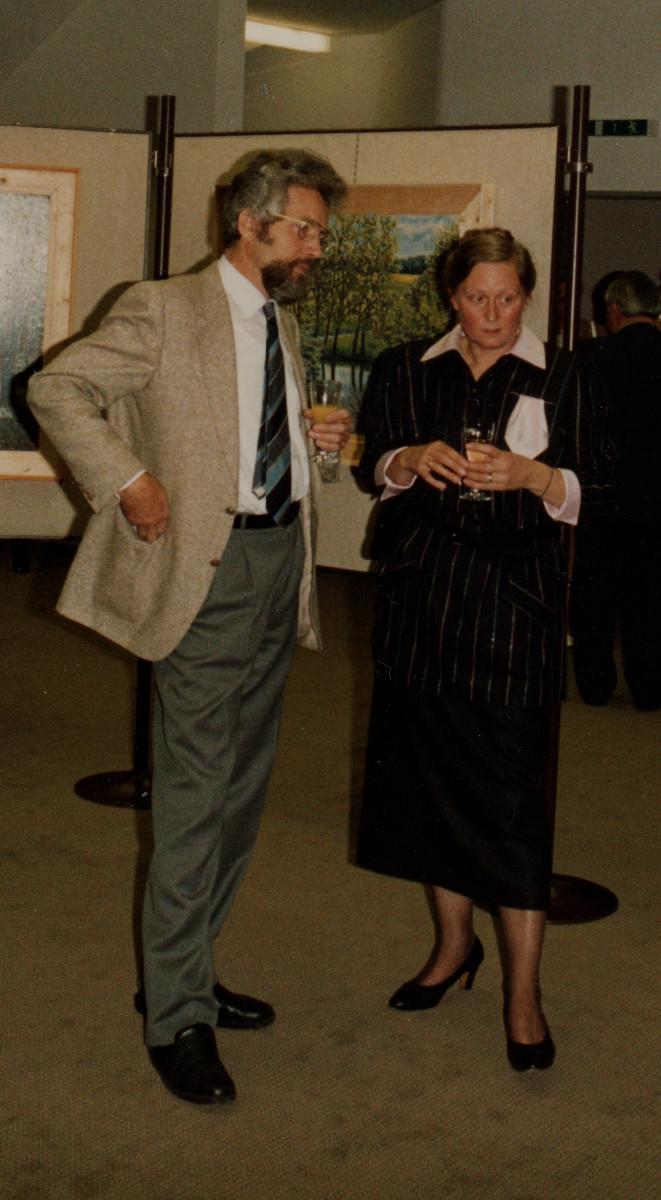 Gisela Petersen im Gespräch mit Professor Herbert Kessler