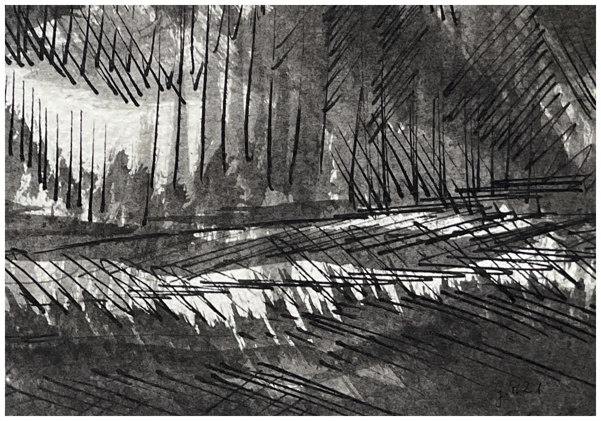 Wald (Tusche, Feder, Pinsel)