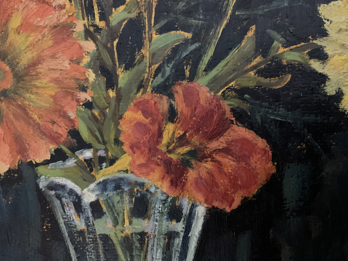 Letzte Sommerblumen 1986, Ausschnitt