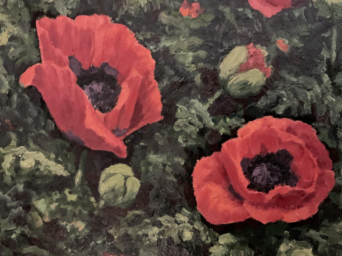 Mohnblüten 1985, Ausschnitt
