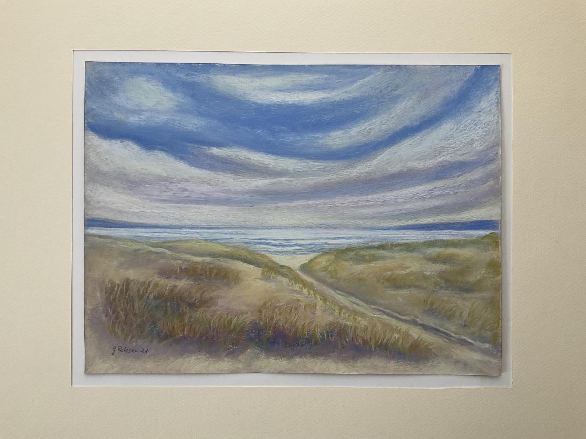 Am Meer 3, freie Komposition, Pastell, 24 cm x 32 cm