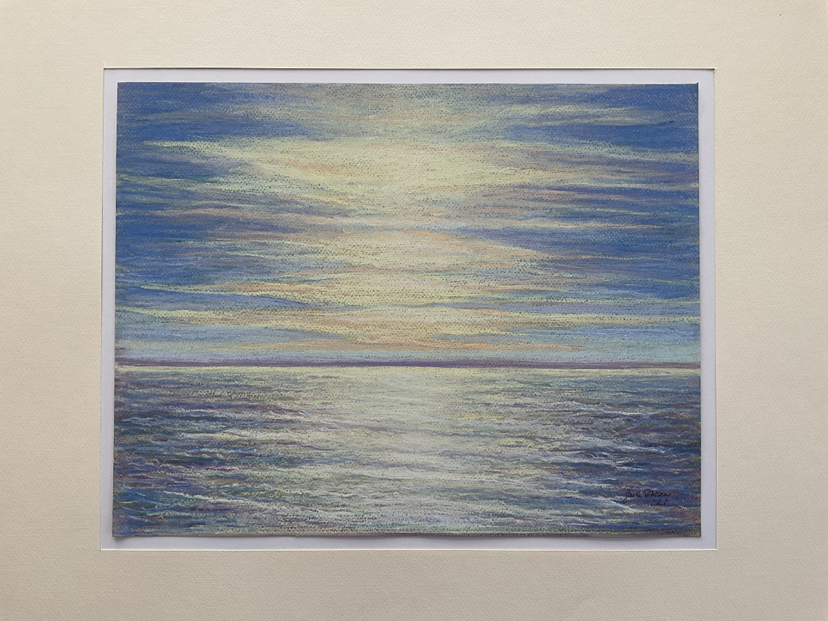 Am Meer,freie Komposition, Pastell, 30 cm x 40 cm