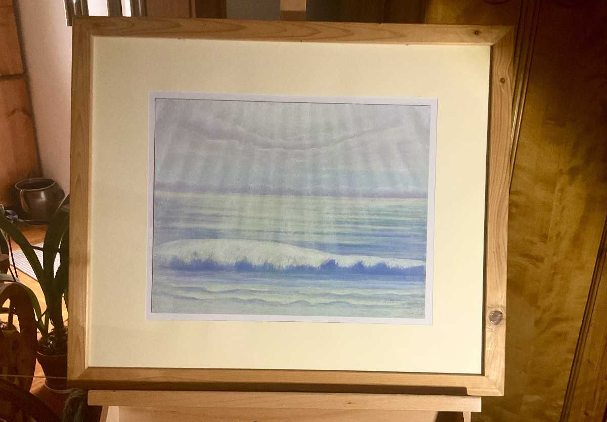 Stiller Tag, freie Komposition, Pastell, 30 cm x 40 cm