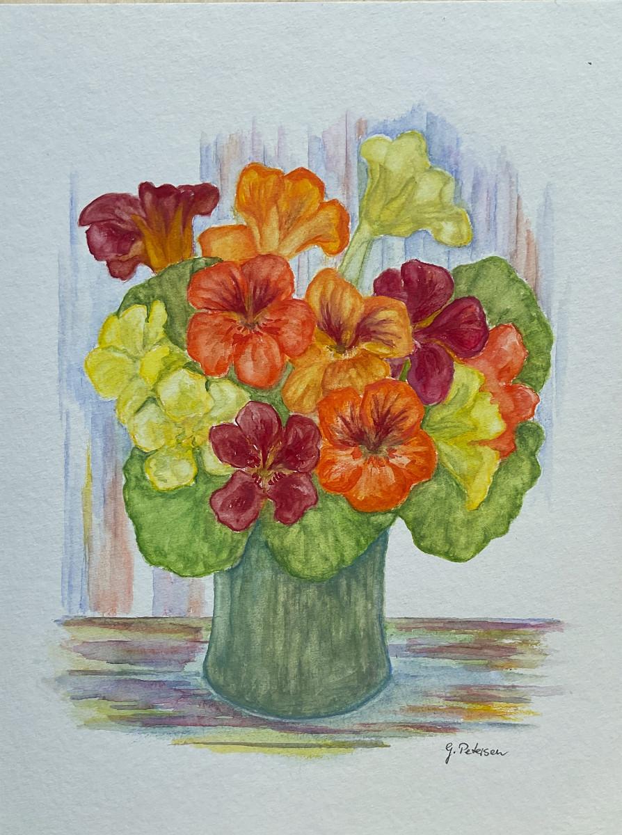 Kapuzinerkresse, Aquarell, 24 cm x 30 cm
