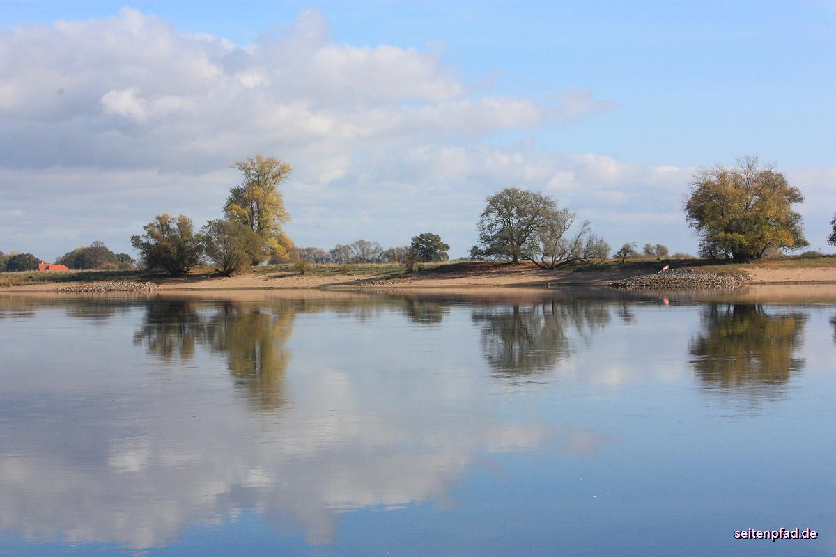 Die Elbe beim Heisterbusch